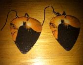 Reserved for Roswellvixen21 Batman Guitar Pick Earrings