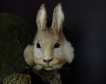 Bunny mask Peter Rabbit paper mache rabbit mask hare mask bunny mask