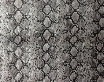 Faux Vinyl Snake Skin Silver 58 Inch Fabric by the Yard, 1 Yard