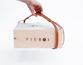 PieBox + Leather Carrying Strap/Handle