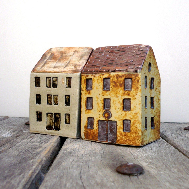 Grey green House, Quayside Building, Ceramic Sculpture