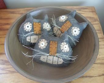 Primitive Black Cat Halloween Bowl Fillers/Tucks