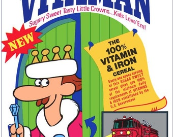 King Vitamin Cereal Stand-Up Display