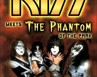 KISS Meets The Phantom Of The Park 25th Anniversary Reissue Stand-Up Display - Gift Collectibles Collector Collection Rock Band Retro