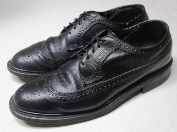 vintage stafford mens size 8 1 2 e wingtips oxfords dress