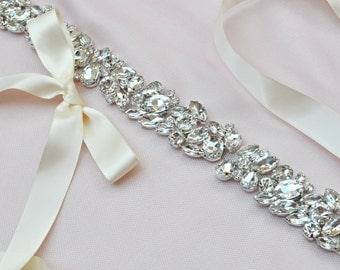 Rhinestone Wedding Sash - Bridal Sash - Wedding - Bridal