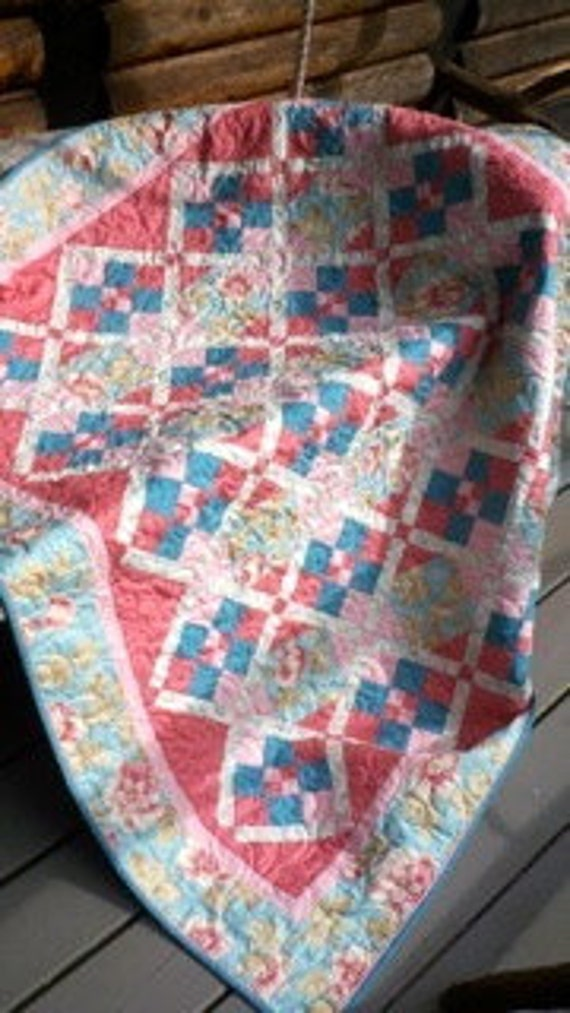 Sandee's Stained Glass Quilt Pattern - PDF
