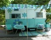 """RESERVED NICE 1964 Travel Trailer, Oasis """"Bellflower"""" with Title, Close to Original, 16' with Bathroom, Pull Along Camper Caravan"""