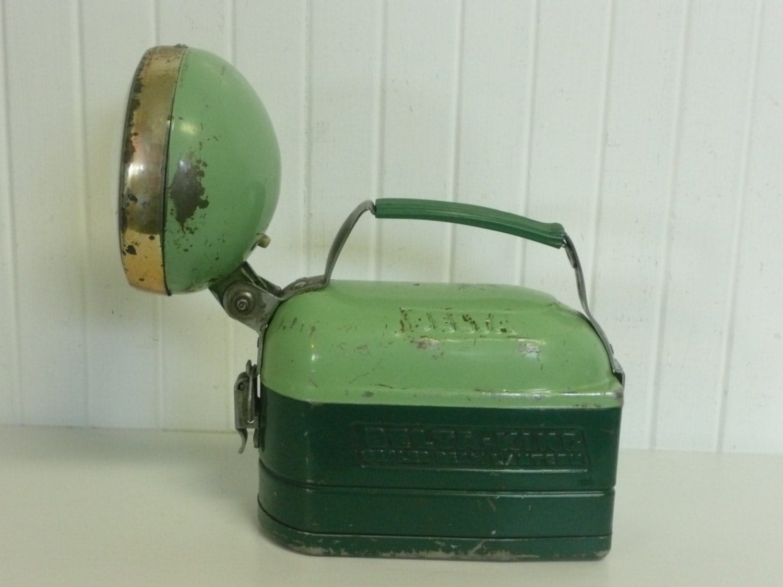 Rare 1930s Flashlight Torch Lamp Jadeite Green Color