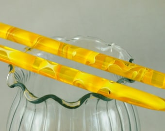 canary acrylic hair sticks, acrylic yellow water hair sticks   (choose one or more)