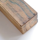 Kraft Wooden Cheese Box - Cottage Chic - Vintage - Rustic