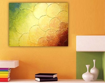 ON SALE NOW 1.5x2 feet Abstract Painting Multicolored Thick Texture 3D Impasto Ready to Hang Contemporary Fine Art 18x24 inches