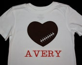 Infant, Toddler and Boy's  Football Heart T-Shirt