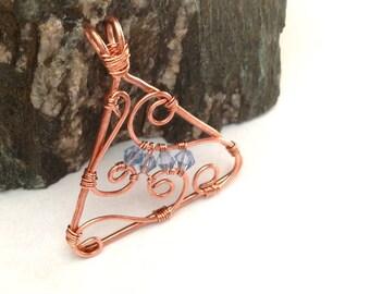 Triangle Copper Swirl Pendant