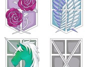 Shingeki no Kyojin-Attack on Titan CLASS stickers!