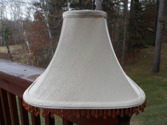 silk l shade with hanging by btckreiner on etsy