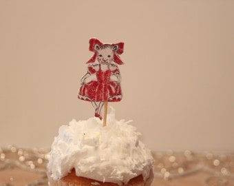 Dainty Dancing Mice Cup Cake Topper
