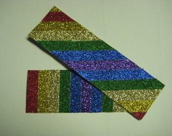 Rainbow Glitter Bookmarks (set of 2)
