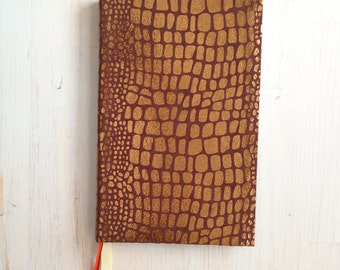 Journal: Notebook, Fabric, Animal Print, Bound, Hand Sewn, Gift, Unique, Wedding, Kids, One of a Kind, For Her, For Him, Blank, Unlined