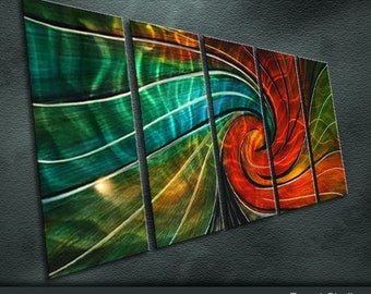"Original Metal Wall Art Modern Abstract Painting Sculpture Indoor Outdoor Decor ""Gravity"" by Ning"