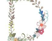 D - Floral Print