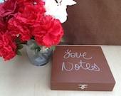 Wedding Decoration Box - Love Notes Box - Bride & Groom Wedding Decoration - Guest Book - Shabby - Rustic - Handmade