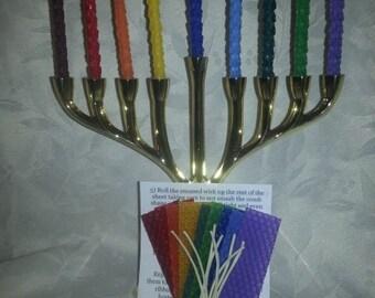 Kit - Hanukkah Candle Making Kit - Hanukkah Candles - Assorted Colors
