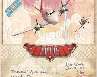 Disney Planes Birthday Invitation