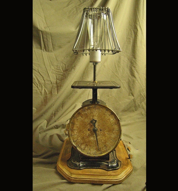 Vintage Kitchen Scale Lamp By Electricheirlooms On Etsy