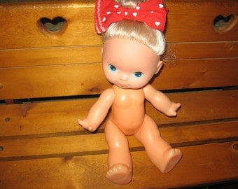 SALE CLEARINGOUT20 Is the Code /  Products Doll C.P.G Doll with Poka Dot Red and White Bow 1979 :)S