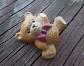 Vintage Bear Brooch, Hallmark Cards, Dated 1984, Cute Small Bear