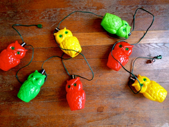 Pretty Indoor String Lights : Vintage Owl String Lights indoor outdoor bright colorful mod
