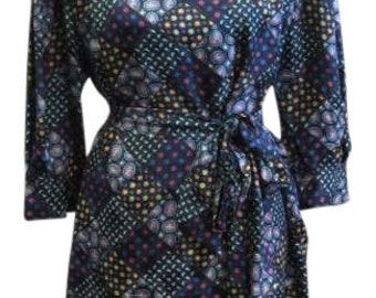 Vintage Designer Silk Dress (Sz 10)
