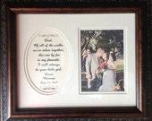 Father of the Bride Of All The Walks Personalized Wedding Gift Dad Daddy Parents Thank You Framed