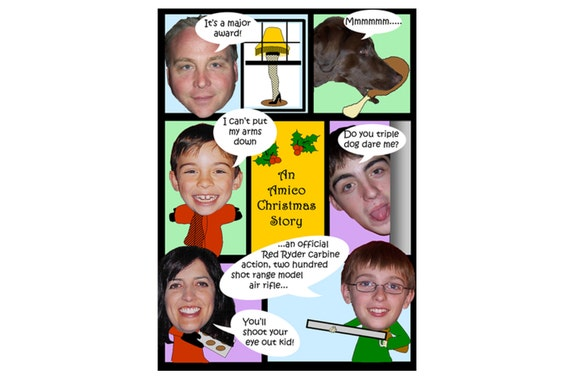 A Christmas Story Family Photo Christmas Card