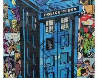 Dr Who Tardis Print 11x17