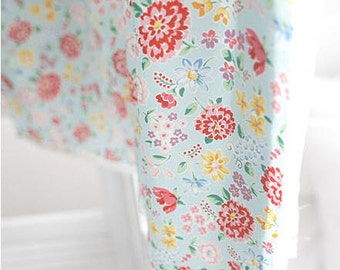 Cotton Floral Fabric Heidi - Blue - By the Yard 39443