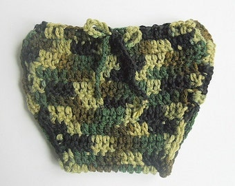 Camouflage Diaper Cover Boy Green Camo Soaker Baby Girl Cozy 3 To 6  Months Infant  Kozy Newborn Children Crochet Fall Hunting Clothing
