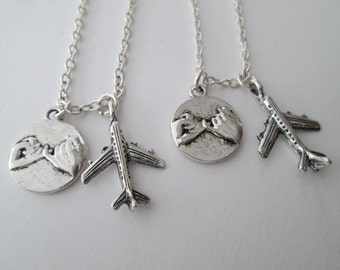 2 Airplane, Pinky Promise- Best Friends Necklaces
