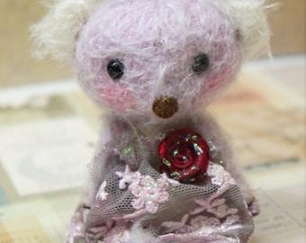 Carol one of a kind Purple Teddy Bear by ming