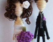 Cake Topper Couple-Custom Personalized-Pick your Pair-Decorate to your specs