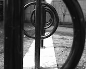 Black and White Circle Architecture Photo Art, Framed Photography Option