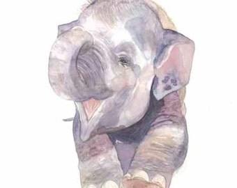 """Fine Art Giclee Watercolor Print """"Harriet"""""""