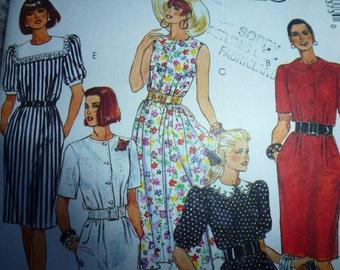 Vintage Easy McCalls Misses Dress Pattern 4337   Size 10-12-14