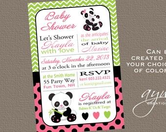 Panda invitation | Etsy