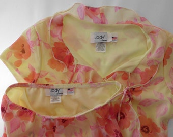 Jody of California 2 pc. SKIRT & TOP SUMMER Light size M  Size 5 aprox.