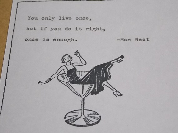 Items similar to Funny Birthday Card - Mae West quote you ...