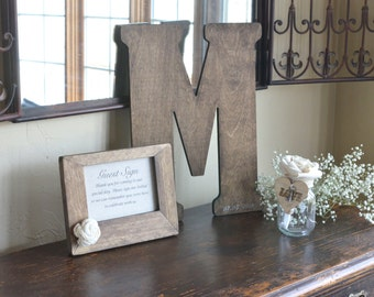 intage Letter Guest Book Alternative by Burlap and Linen Co.z