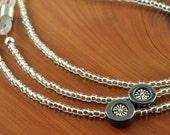 Silver Eye Glasses Chain with Flowers - Silver Glasses Holder for Women - Womens Glasses Leash - Reading Glasses Chain - Eyeglass Cord