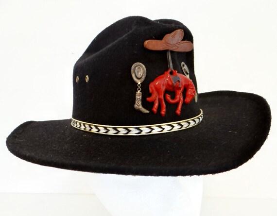 Vintage cowboy hat, Summit Hat, Houston TX, size 6 3/8